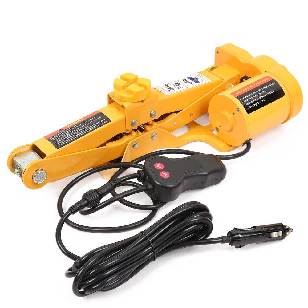 Gato de suelo hidráulico eléctrico de 12 V, juego de elevación de 42cm 2 T, herramienta de reparación de neumáticos con luz LED con control remoto - 3