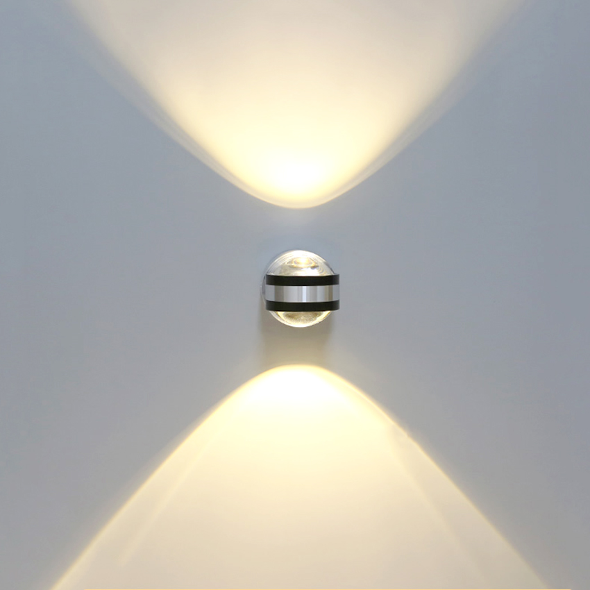 6W Led Interior Wall Lamp LED Wall Lighting Fixtures Aluminum Wall Sconces Led Wall Lamps Up and Down Wall Lights RF05