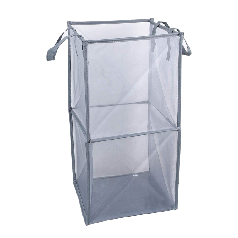 HOT SALE Laundry Hamper Bag With Handles,Portable &Collapsible Dirty Clothes Mesh Basket Foldable For Washing Storage, Kids Room