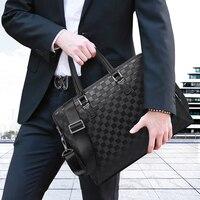 Neue Mode Luxus Marke designer 15 zoll Laptop Aktentasche Business Handtasche für Männer Große Kapazität männer leder Schulter Tasche