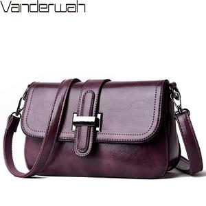 Image 1 - Vintage 3 in 1 Crossbody Bags For Women Messenger Bags 2019 Leather Luxury Handbags Women Bags Designer Sac A Main Femme