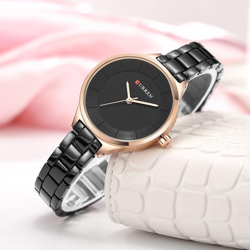 CURREN Top Brand Fashion Ladies Watches Stainless Steel Band Quartz Female Wrist Watch Ladies Gifts Clock Relogio Feminino 5