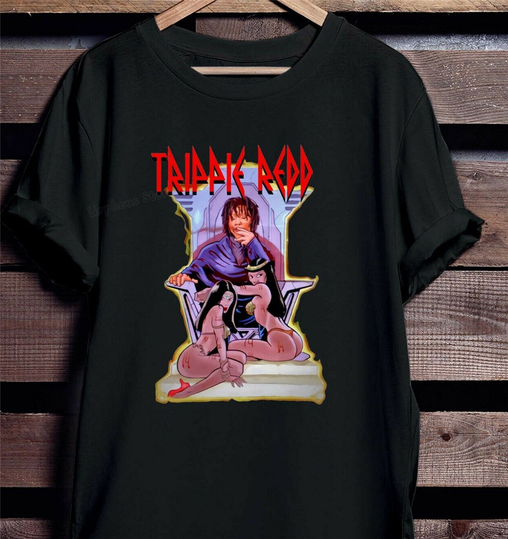 Trippie Redd A Love Letter To You Sitting On Throne Cotton Black T-Shirt Vintage Graphic Tee Shirt