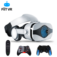 лучшая цена Fiit 5F Helmet 3D VR Glasses Virtual Reality Headset For iPhone Android Smartphone Goggles Casque Smart Phone Android 3 D Lens