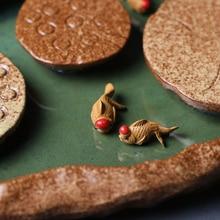 Table-Decoration-Accessories Clay Tea Ceremony Fish-Tea Zen Mini Purple Tea-Set Pet-Figurines