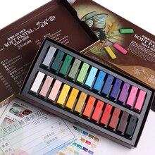 Мягкий пастельный набор размером с половину гладкой 24 цвет Мел карандаш Карандаш для Живопись Рисунок подкладка раскраски школа искусств доске 6885
