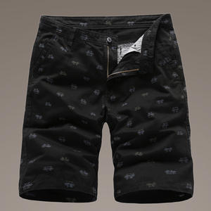Bodybuilding Shorts Prints Military Cotton Mens Fashion Casual Solid with Large-Sizes