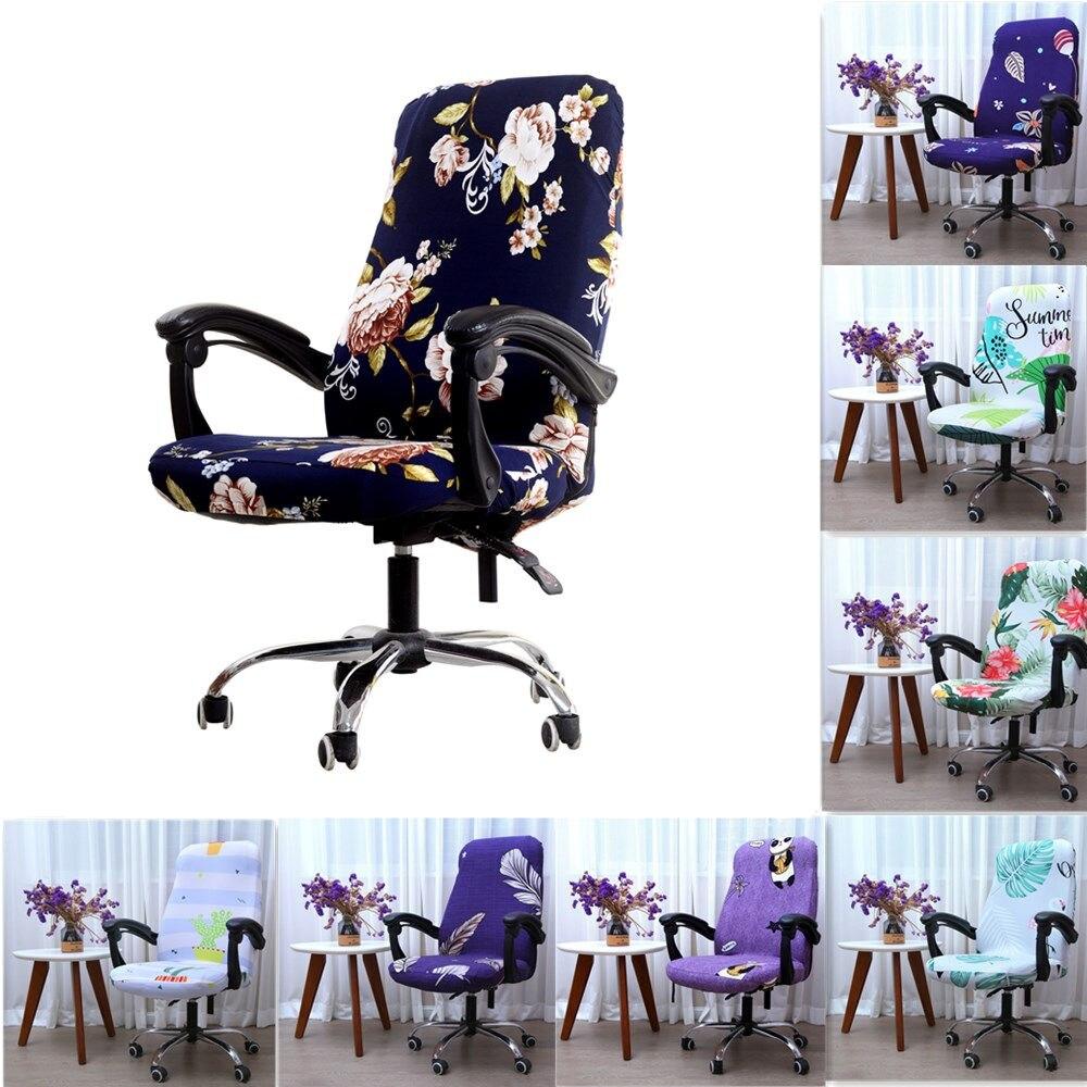 Вращающийся Офисный Компьютерный чехол для кресла спандекс чехол с принтом растягивающийся чехол для сиденья съемные офисные стулья Silpcover