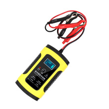 12V 6A LCD Display Fast Car Battery Charger for Auto Motorcycle Lead-Acid AGM GEL Batteries Full Automatic Car Battery Charger autool bt 460 battery tester lead acid agm gel battery cell analyzer for 12v vehicle 24v heavy duty 4 tft colorful display