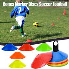 10/20/50 pces cones marcador atlético cruz formação futebol acessórios de treinamento esportes cones marcador discos