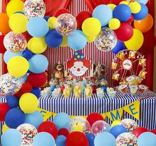 METABLE Circus Party Supplies Balloons Arch Kit 100PCS Confetti Balloon Garland Strip Set for Carnival