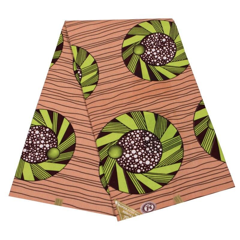 Ankara New Gothic Fabric Dots Pattern Printed Uniform Sewing Wax Fabric 6Yards