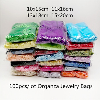 100pcs Organza Drawstring Jewelry Bag Gift Bags For Jewelry Packaging Pouch Wedding Party Christmas Decoration Organza Gift Bags anime cartoon adventure time jake the dog yellow jewelry cell phone drawstring pouch wedding party gift bag draph 10