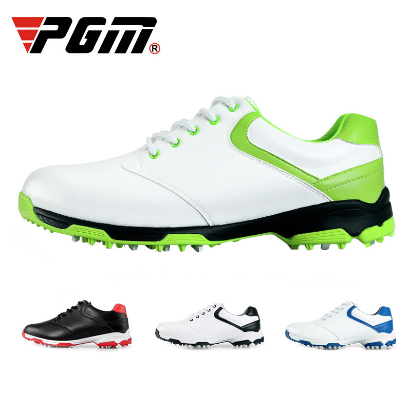 Waterproof Breathable Outdoor Sports Men Shoes Anti-Skid Light Good Grip Leather Golf Shoes  FH99