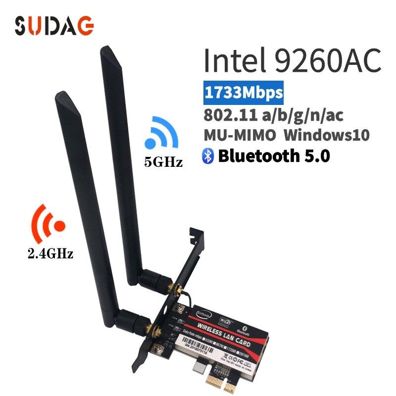 1.73 Gbps Sem Fio 9260ngw Ngff Rede Wi-fi Cartão Para Intel Ac 9260 2.4g/5 Ghz 802.11ac Wi-fi Bluetooth 5.0 Para O Portátil Wind
