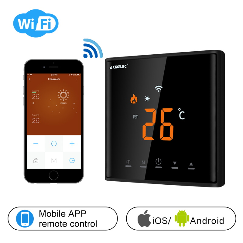 AE-669-D Touch Screen LED Temperature Regulator Electric Heating, Water Heating WIFI Thermostat APP Control Temperature