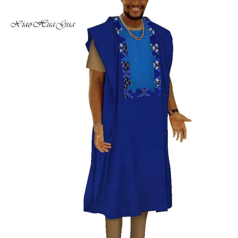 Oversized 6XL Pullovers Men Dress Shirts African Dashiki Kaftan Tops And Pant African Men Clothing Dress Robe 3 Pieces WYN775