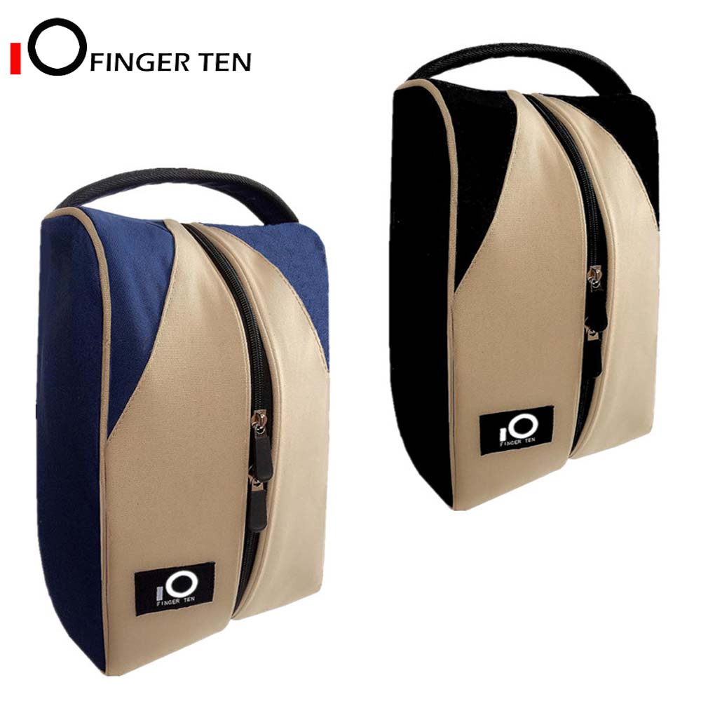 Deluxe Canvas Zipper Tote Golf Shoe Bag Large Travel Organizer Basketball Soccer Gym For Men Women