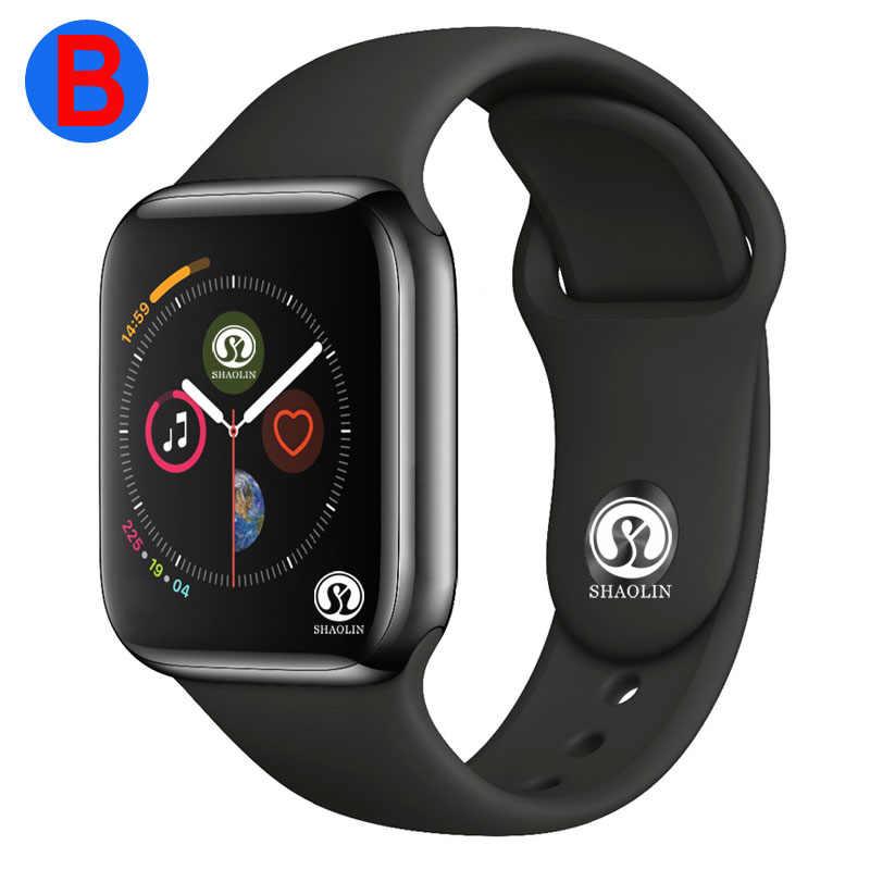 B 男性女性の Bluetooth スマートウォッチシリーズ 4 スマートウォッチ apple の iOS iPhone Xiaomi の Android スマートフォン (赤ボタン)
