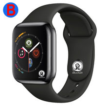 B hommes femmes Bluetooth montre intelligente série 4 SmartWatch pour Apple iOS iPhone Xiaomi Android téléphone intelligent (bouton rouge)(China)