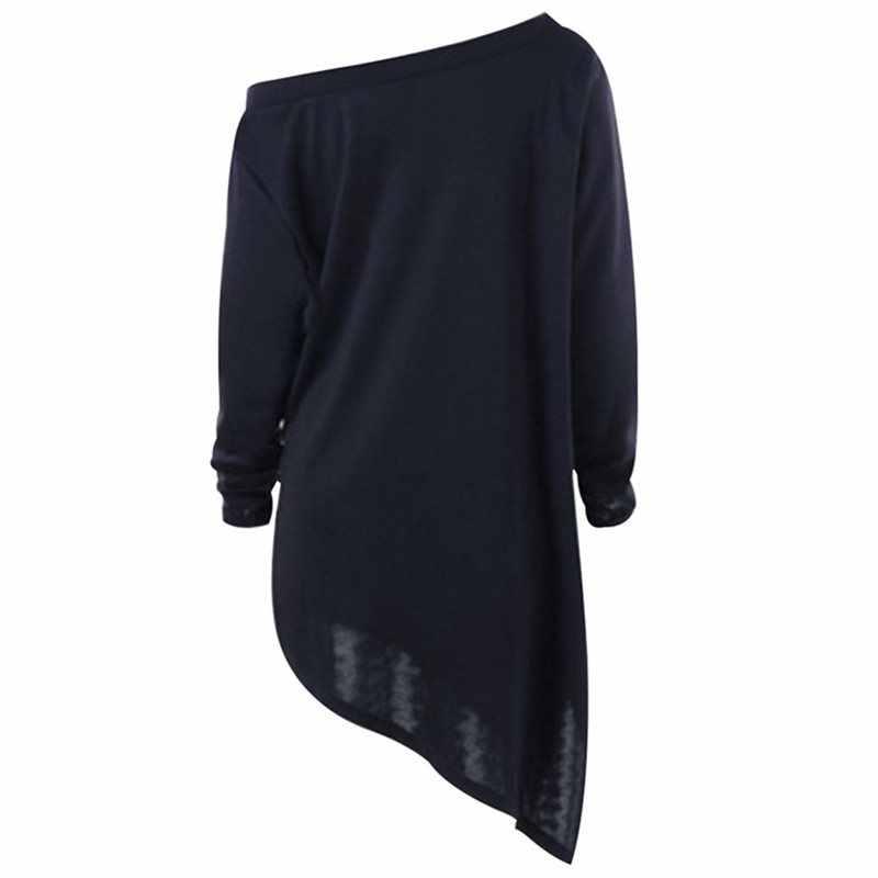 Rosetic, женская футболка, готический, Хэллоуин, топы, принт с привидениями, длинный, несимметричный, крест, воротник, топ, женский, готический, черный, школьная футболка