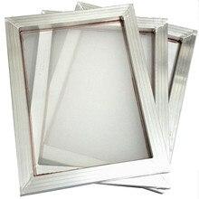 1Pc A3 Zeefdruk Aluminium Frame Uitgerekt En Wit 43T Zijdedruk Polyester Mesh Voor Printplaten