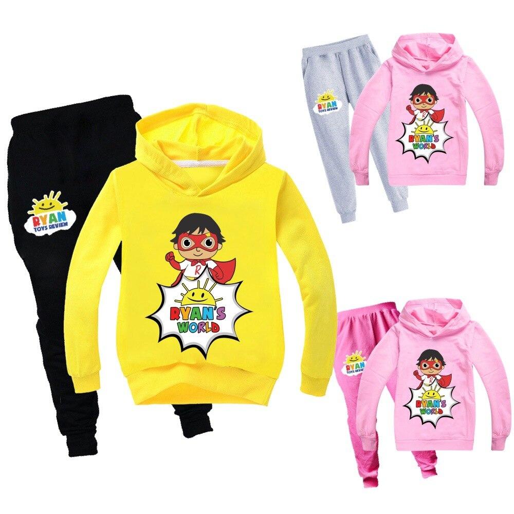 2019 new Ryan Toys Review Boy Fashion Casual Jacket Sweatshirt Hoodie pant Set