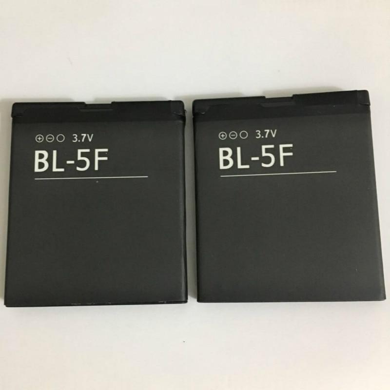 2PCS/LOT BL5F BL-5F Battery For Nokia N78 N95 N96 N98 N93i 6290 E65 6290 6210S/N 6710N C5-01 Battery BL-5F