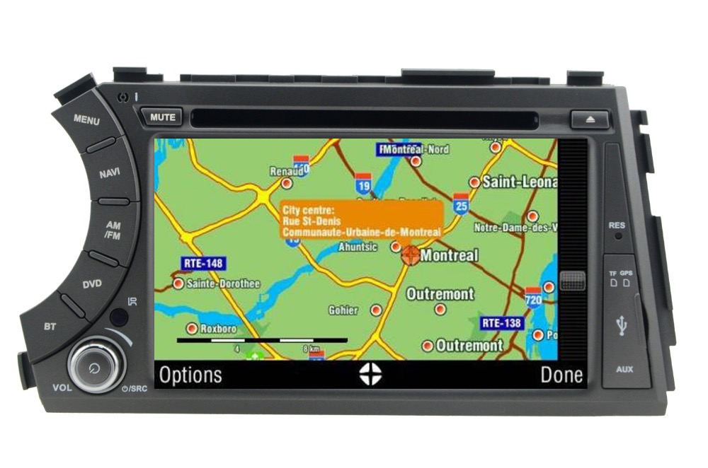 cheapest In stock 7inch 2din Android 10 car dvd gps for ssangyong Kyron Actyon 4G Wifi Bluetooth support dvr OBD quad core 1024x600 russian
