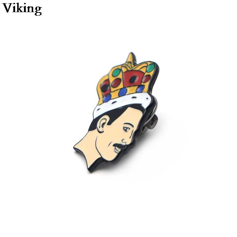 Freddie Mercury ป้าย Cool เข็มกลัด Stylish Pin เข็มกลัดโลหะเคลือบ Pin สำหรับเด็กผู้หญิงผู้ชายหมวก Pins แจ็คเก็ตป้าย G0516