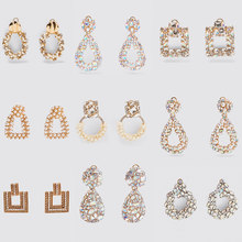 Jujia za brincos de pérolas, brincos de pérola com drop shipping, joias de cristal de luxo, brincos para presente de casamento, acessórios para mulheres