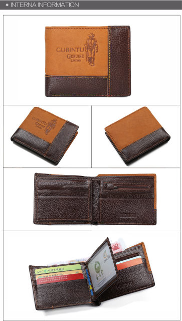 H7d0ae5f160d344ca83eec127562e058c5 - GUBINTU Genuine Leather Men Wallets Coin Pocket Zipper Real Men's Leather Wallet with Coin High Quality Male Purse cartera