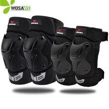 WOSAWE Adjustable Roller Sports Knee Elbow Pads EVA Protection for Cycing Motorcycle Ski Snowboard Bike Kneepad Protector