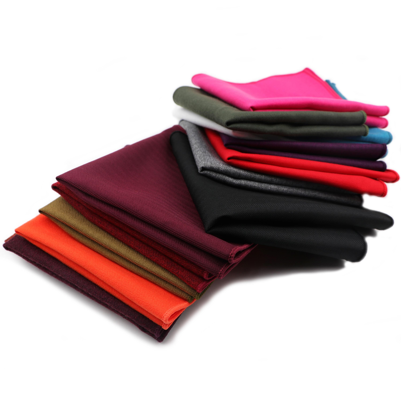 Brand New Solid Color Men's Hankerchief Scarves Vintage Cotton Soft Hankies Men's Suits Pocket Square Handkerchiefs