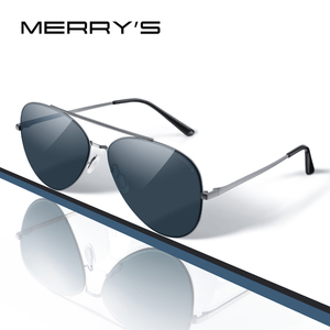 Image 1 - MERRYS 디자인 남자 클래식 파일럿 선글라스 CR39 HD 편광 렌즈 망 안경 운전 UV400 보호 S8226