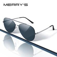 MERRYS DESIGN mężczyźni klasyczne okulary pilotażowe CR39 HD soczewki polaryzacyjne okulary męskie do jazda samochodem łowienie ryb ochrona UV400 S8226