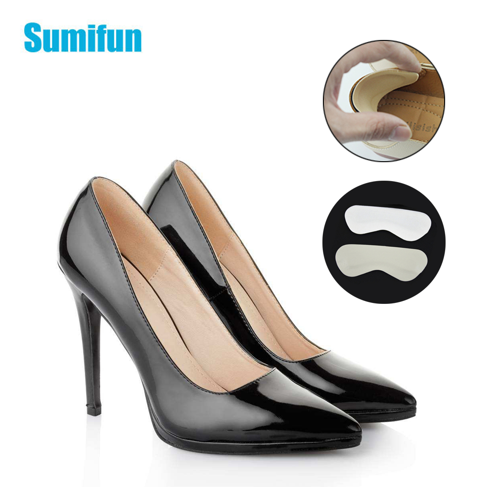 6Pcs/3Pairs Thick Sponge Heel Sticker Cushion Non Slip Men Faux Leather Insert Pad High Heels Foot Protector Adjust Size