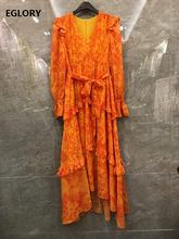 Длинное шелковое платье 2021 сезон: весна лето Модные Стиль