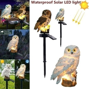 1Pc Waterproof Solar Power LED Light Garden Path Yard Lawn Owl Animal Ornament Lamp Outdoor Decor Garden Statues