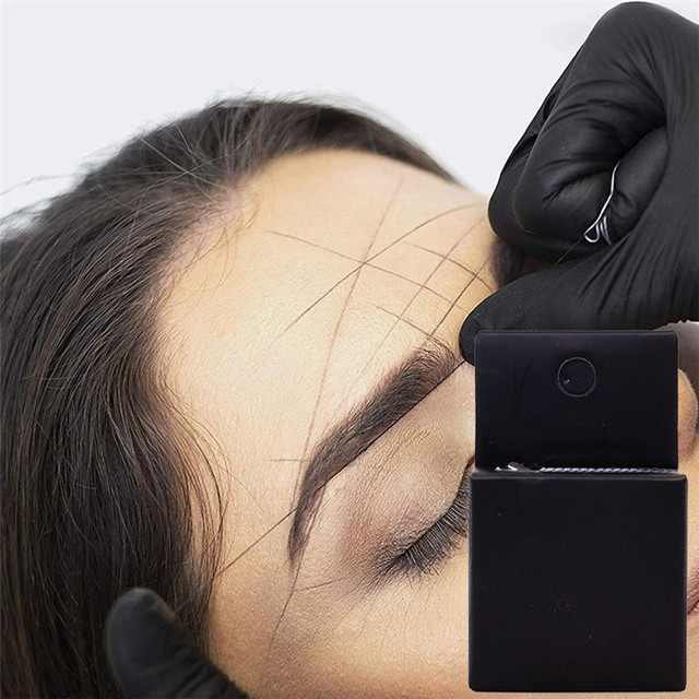 Microblading MAPPING STRING Pre-Inked Eyebrow Marker Thread Tattoo Brows Point 10m Pre Inked Tattoo PMU String for Mapping New 1
