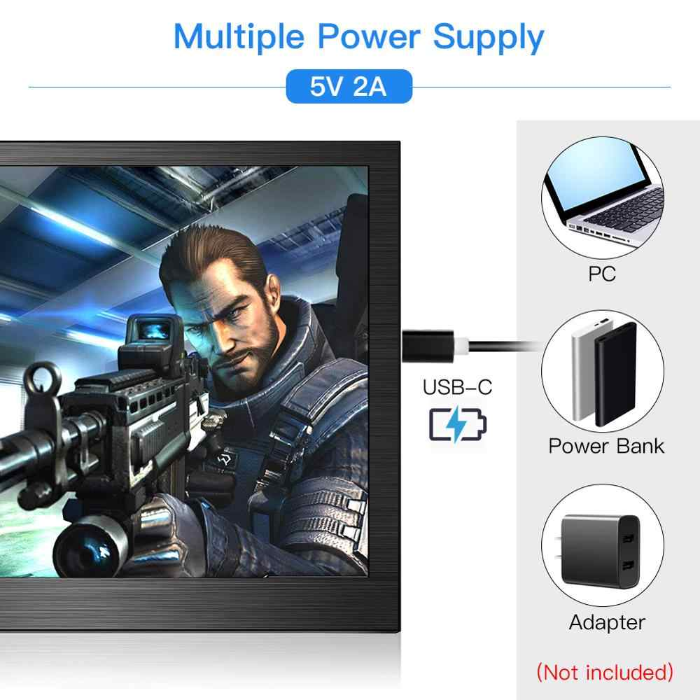 Eyoyo EM13F Portable Monitor 13.3 ''1920X1080 FHD LCD Layar HDMI untuk PC Laptop PS4 Switch Xbox Wii U Game monitor IPS Layar