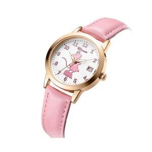 Image 4 - Новые милые кварцевые часы с Минни Маус для девочек, женские часы на ремешке для подростков, подарок на день рождения, женские часы