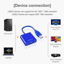 Adapter-Cable Video-Display Laptop Windows VGA Converter-Adapter High-Quality USB