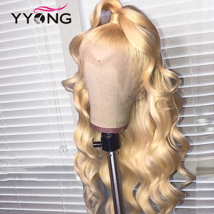 13x4 Blond Lace Front Human Hair Wigs For Women 613 Body Wave Lace Front Wig Pre Plucked With Baby Hair Remy Can Be Colored 150(China)