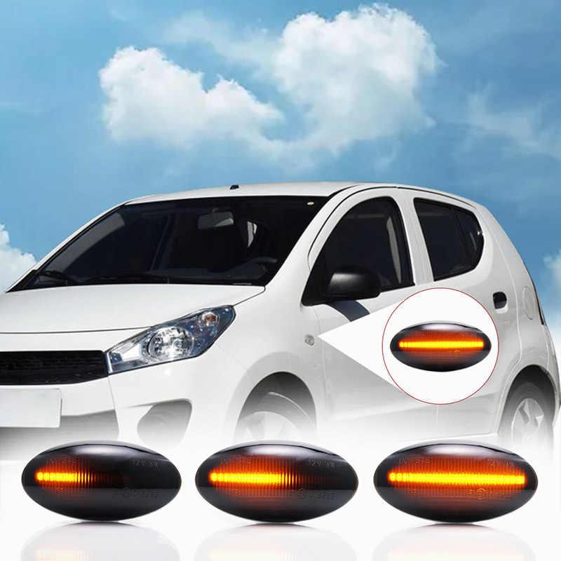 Dinamik LED Çamurluk Yan Marker Dönüş Sinyal Lambaları Suzuki Grand Vitara Için JT Sıçrama EXB22 Swift MZ EZ FZ NZ RZ AZ Jimny Opel