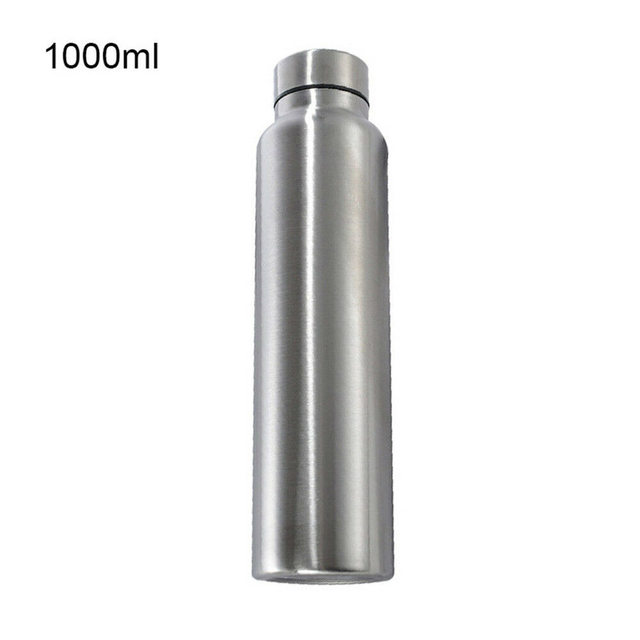 650ml/1000ml Stainless Steel Sport Water Bottle Single-layer Rugged Water Cup Camping Sports Gym Metal Flask Drinkware 4
