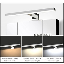 Dropshipping 2in1 Linson IP44 5W chromed AC85-265V led bathroom cabinet light wall lamp led mirror lamp