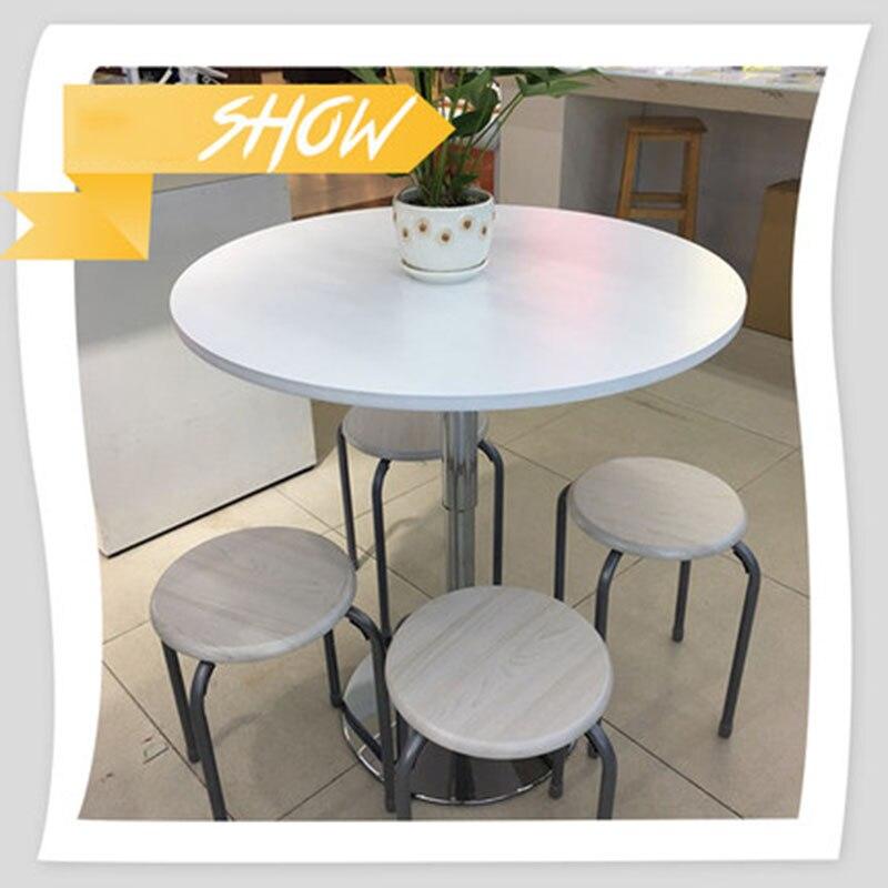Table basse en bois massif européen Table basse Table à manger Simple peut soulever réunion négocier petite Table ronde Type économique