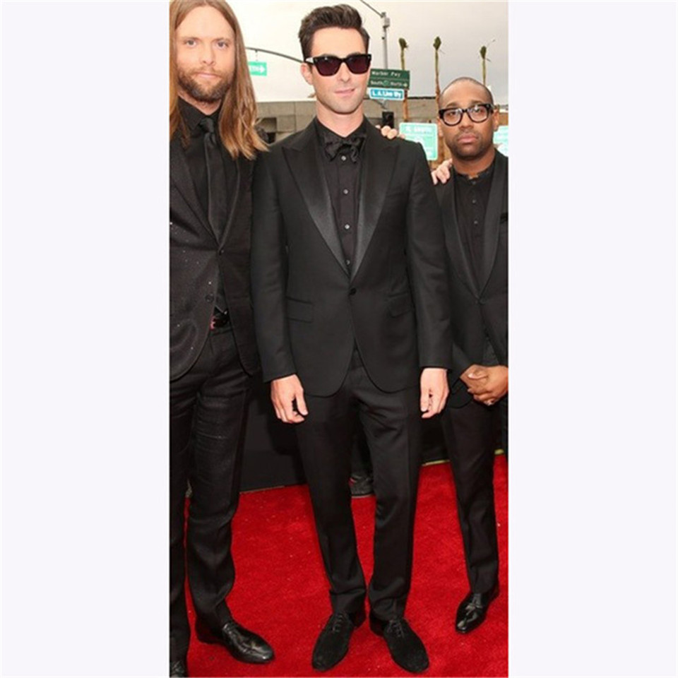 New Men's Suit Smolking Noivo Terno Slim Fit Easculino Evening Suits For Men Black Tuxedos Groom Wear Suit(jacket+Pants)