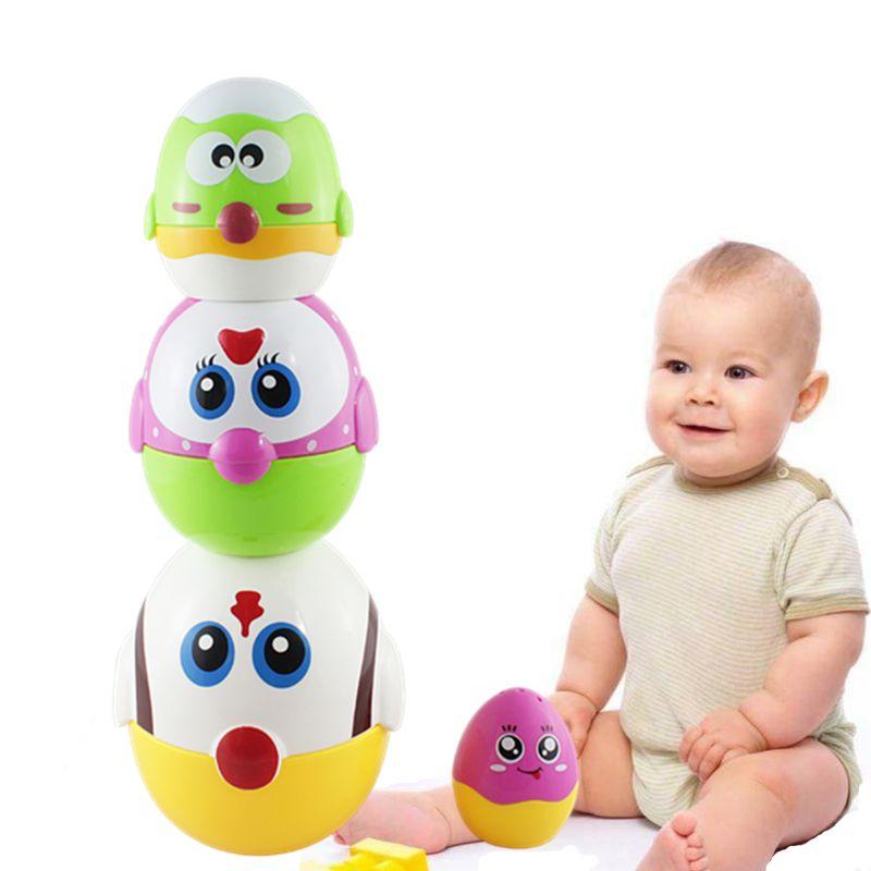Jouets éducatifs oeuf nidification poupées pour enfant en bas âge, apprentissage préscolaire empilement jouets pour bébé filles et garçons Y4QA - 4